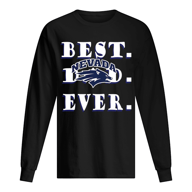 Father's Day Best Dad Nevada Wolf Pack Ever Long Sleeved T-shirt