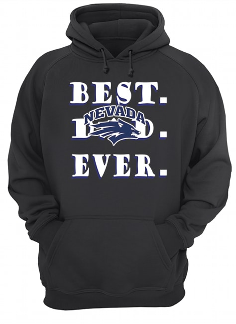 Father's Day Best Dad Nevada Wolf Pack Ever  Unisex Hoodie