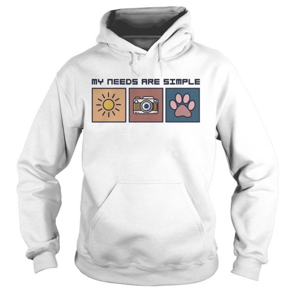 I am a simple woman sunshine camera paw  Hoodie