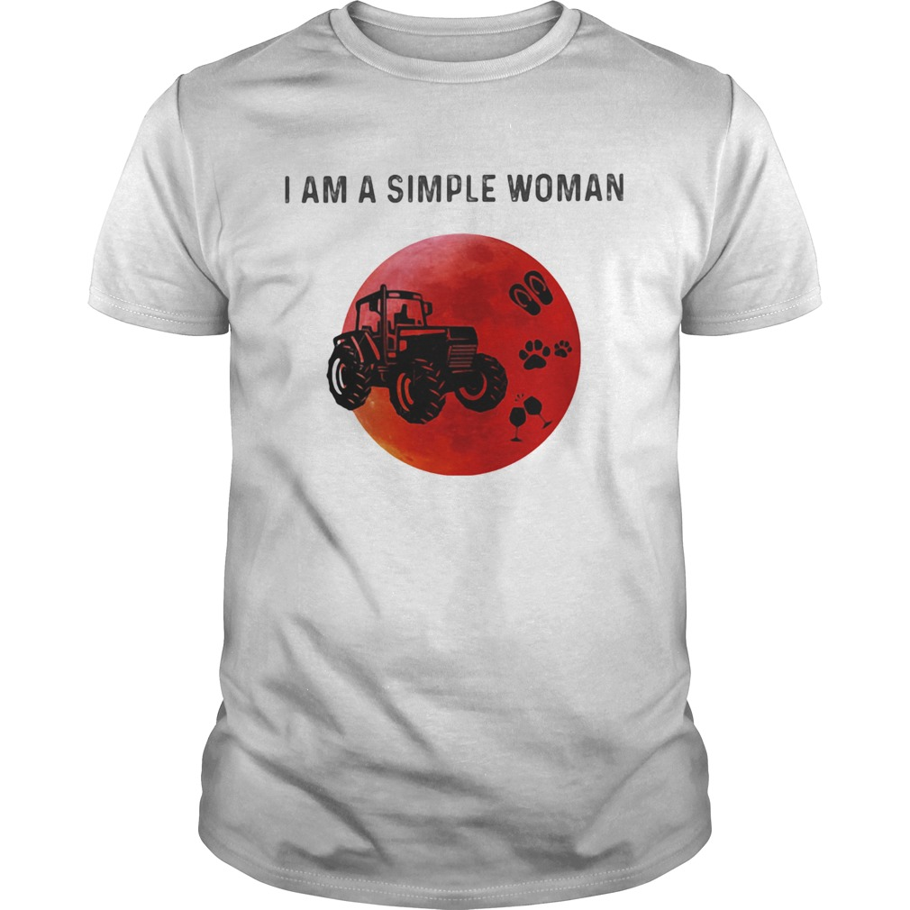 I am a simple woman trucker paw wine Unisex