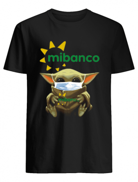 Star wars baby yoda mask hug mibanco shirt