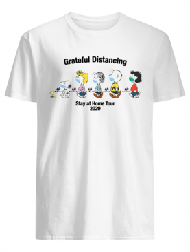 The Peanuts Face Mask Grateful Distancing Stay At Home Tour 2020 shirt