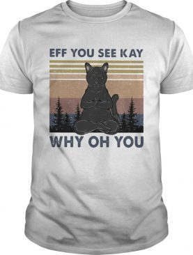 Yoga cat eff you see kay why oh you vintage shirt