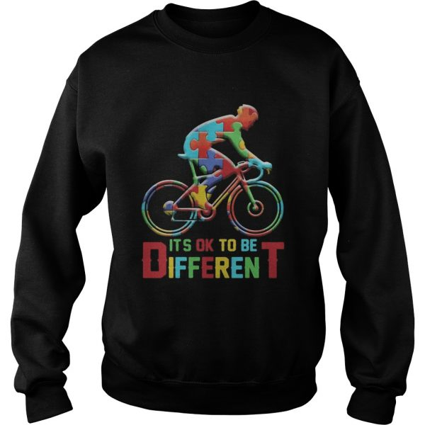 bicycle autism its ok to be different  Sweatshirt