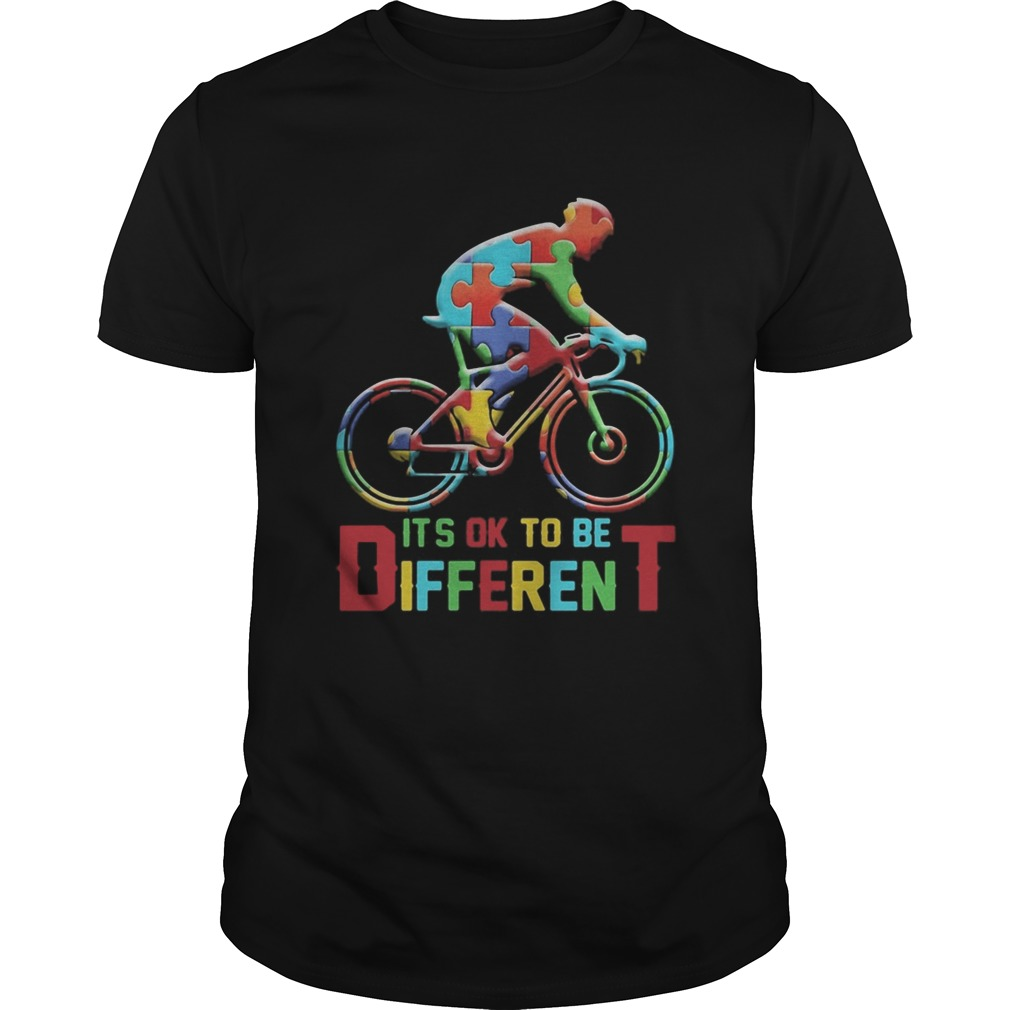 bicycle autism its ok to be different Unisex