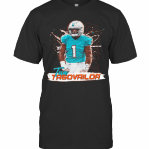 1 Tua Tagovailoa Miami Dolphins Football T-Shirt Classic Men's T-shirt
