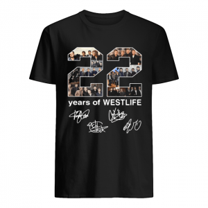 22 Years Of Westlife Signatures  Classic Men's T-shirt