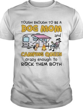 A Girl Loved Dogs And Camping shirt
