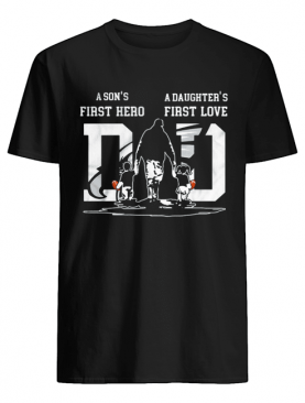 A son's first hero a daughter's first love dad philadelphia eagles happy father's day shirt