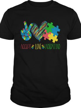Accept love understand autism awareness shirt