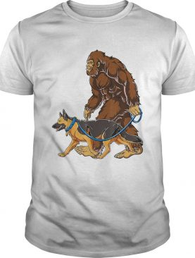 Bigfoot Walking German Shepherd shirt