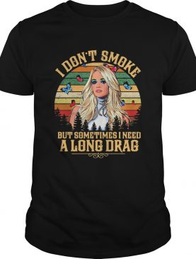 Carrie underwood i dont smoke but sometimes i need a long drag butterflies vintage retro shirt