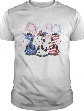 Cows American Flag 4th Of July shirt