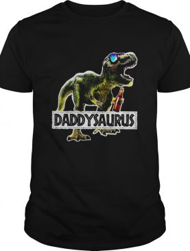 Daddysaurus Drinking Beer Party shirt