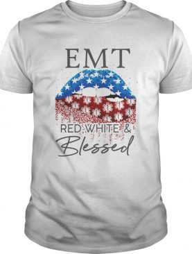 Diamond Lips EMt red white and blessed shirt
