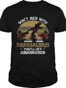 Dont Mess With Bronson Cannon Papasaurus Youll Get Jurasskicked Vintage shirt