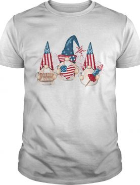 Gnome god bless American flag veteran Independence Day shirt