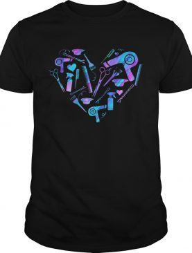 Hairdressers heart shirt