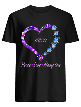 Hbcu Peace Love Hampton Heart shirt