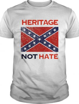 Heritage Not Hate Confederate Flag White shirt