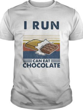 I Run So I Can Eat Chocolate Running Vintage shirt