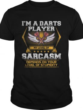 Im a darts player my level of sarcasm depends on your level of stupidity shirt