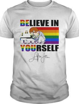 Lgbt charlie brown believe in yourself signature shirt