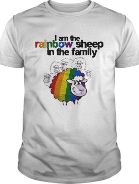 Lgbt i am the rainbow sheep in the family shirt