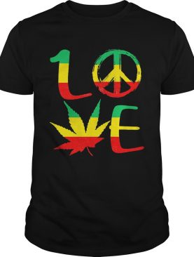 Love Marijuana Leaf LGBT shirt