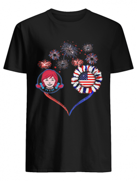 Love wendy's firework america 4th of july independence day shirt