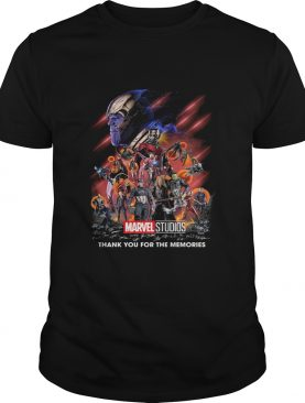 Marvel super heroes thank you for the memories characters signatures shirt