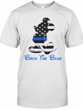 Mickey Mouse Back The Blue American Flag T-Shirt