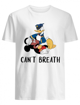 Mickey mouse and donald duck can't breath shirt