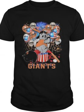 Mouse san francisco giants happy independence day mask soap firework balloon american flag shirt
