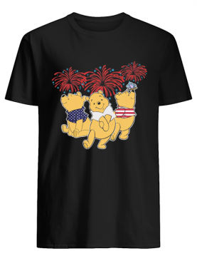 Pooh firework american flag independence day shirt