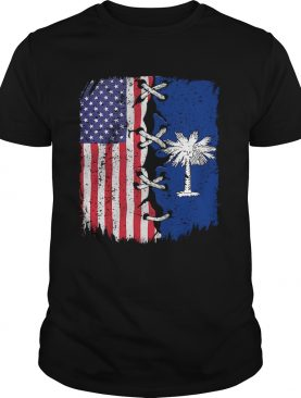 South Carolina And American Flag Independence Day shirt