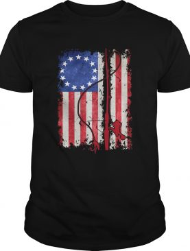 Star retro American flag veteran Independence Day shirt