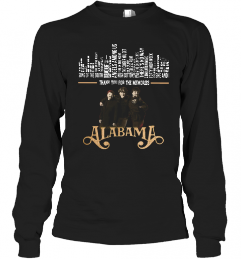 Thank You For The Memories Alabama Band T-Shirt Long Sleeved T-shirt