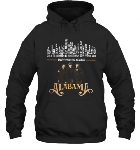 Thank You For The Memories Alabama Band T-Shirt Unisex Hoodie