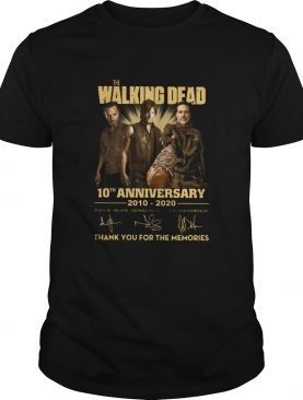 The Walking Dead 10th Anniversary 2010 2020 Full Cast Signatures shirt