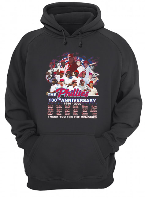 The philadelphia phillies 130th anniversary 1890 2020 thank you for the memories signatures Unisex Hoodie