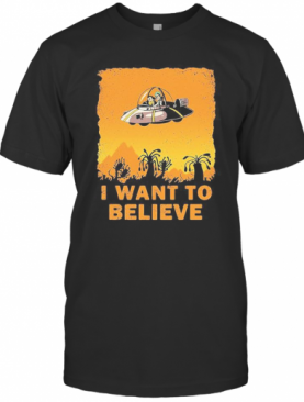 Ufo Rick And Morty I Want To Believe T-Shirt