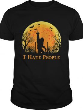 Bigfoot Holloween I hate people Sunset shirt