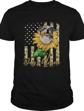 Dogs Name American Flag Independence Day Sun Flower shirt