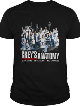 Greys Anatomy 2005 16 seasons 342 episodes signatures shirt