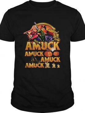 Halloween witch amuck pumpkin shirt