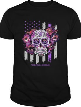 Independence day festival of death skull fibromyalgia awareness shirt