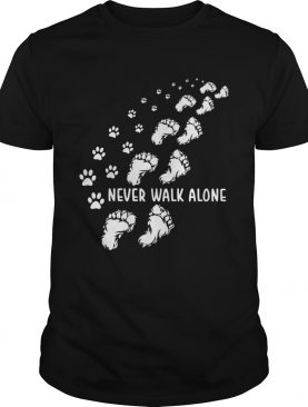 Never walk alone cat paw and foot shirt