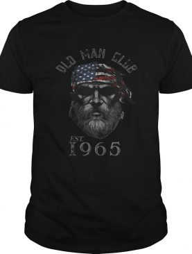 Old man club est 1965 american flag independence day shirt