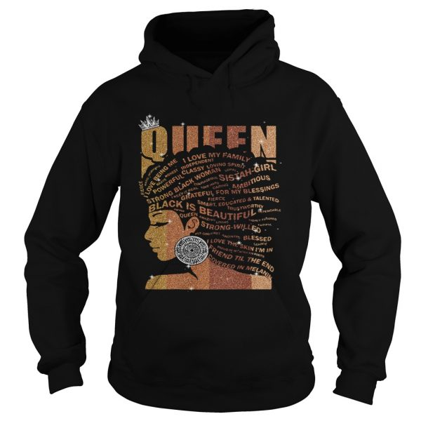 Queen black is beautiful strong willed black lives matter diamond  Hoodie